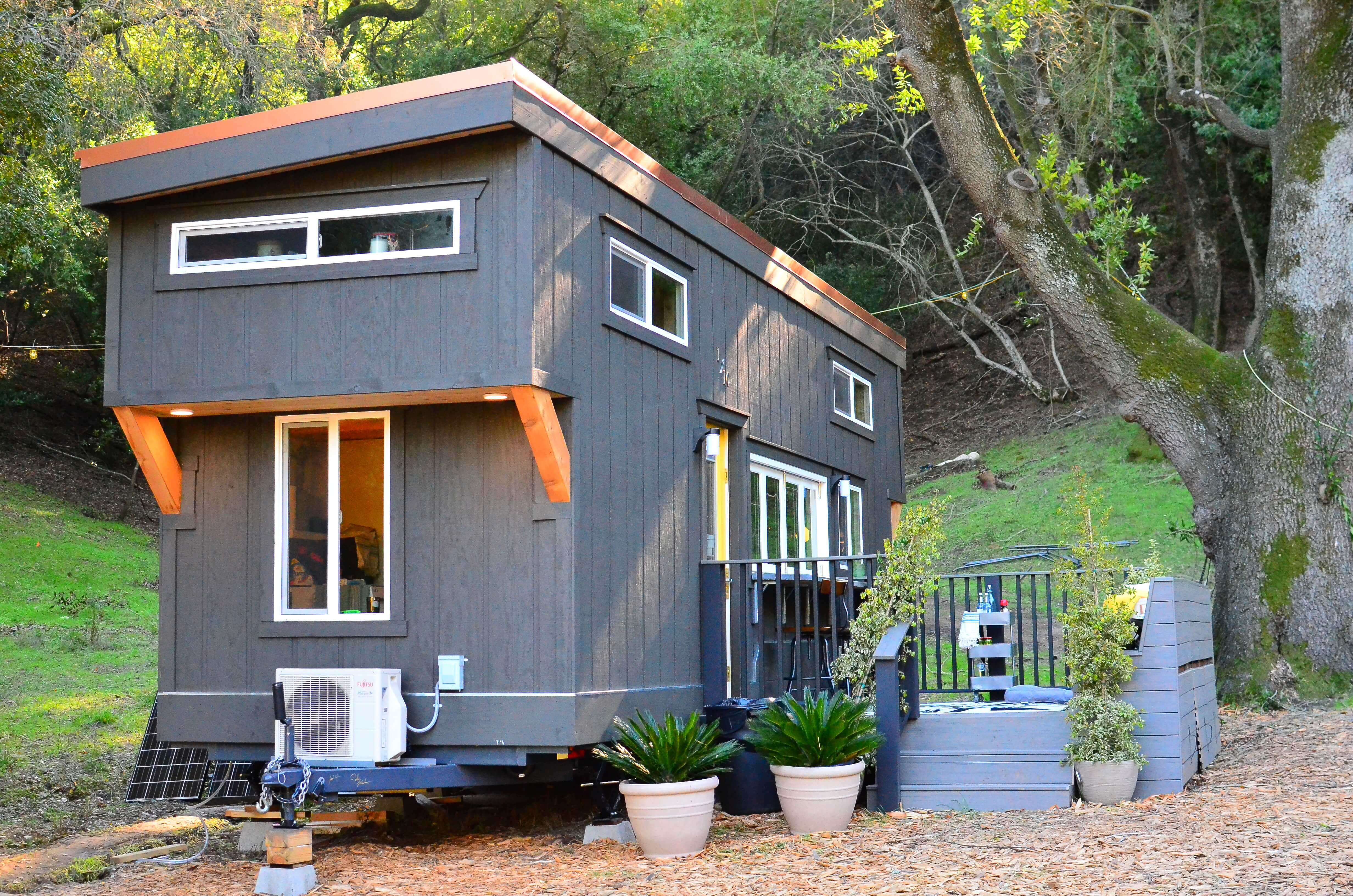 Tiny house walk through exterior tiny house basics Tiny little houses on wheels