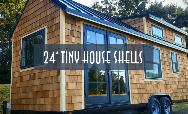 24ft tiny house trailer shell