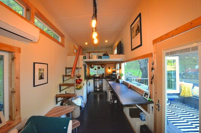 tiny house walk through interior - Tiny House Trailer Interior