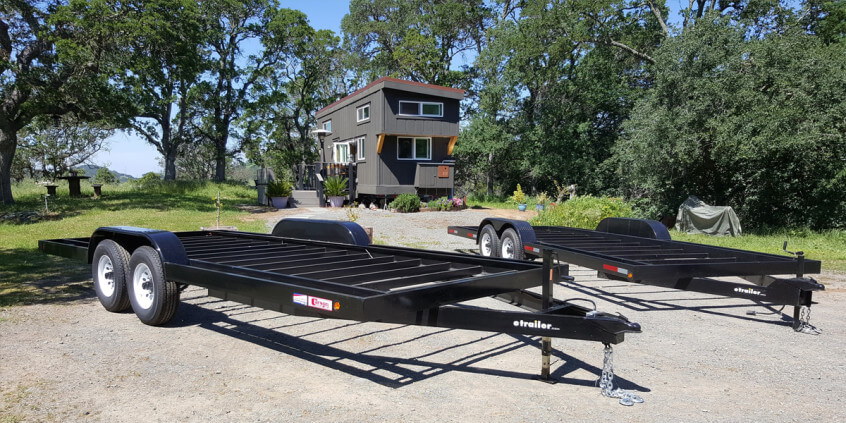 Using flush cross members on your trailer tiny house basics for How to build a tiny house on a trailer