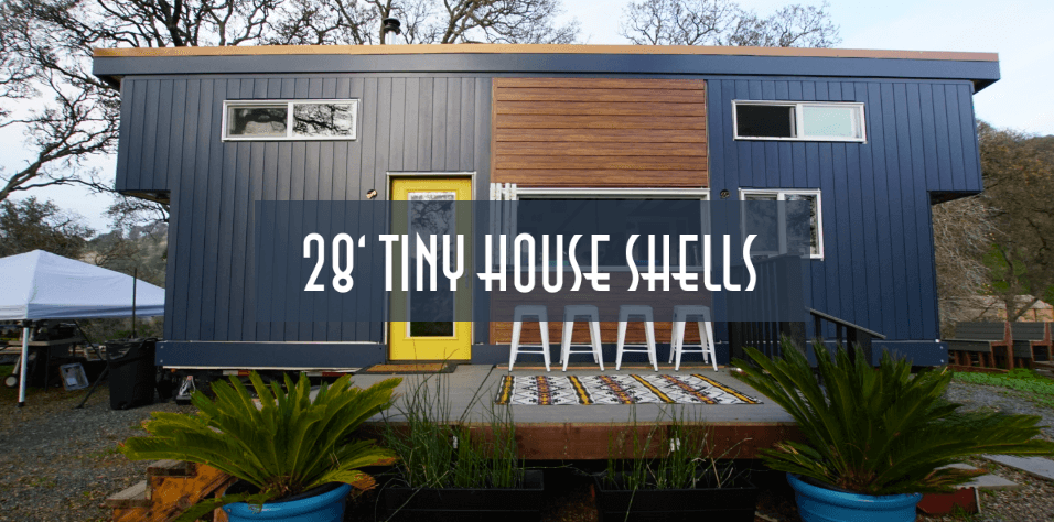 28ft tiny house trailer shell