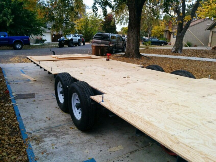 How We Used Our Trailer As The Subfloor For Our Tiny House
